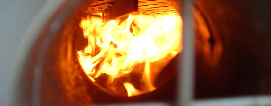 Пиролиз древесины при высокой температуре